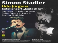Benefizkonzert Simon Stadler (Udo Jürgens) 17.02.2018 in Latsch